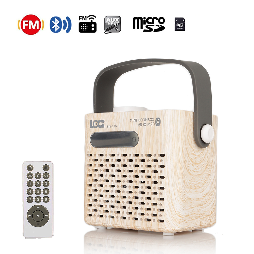 Instabox M80 Bluetooth FM Radio mini Radio Portable USB AUX TF lecteur de cartes Multi-Fonction Fort Super Basse Furtif Antenne