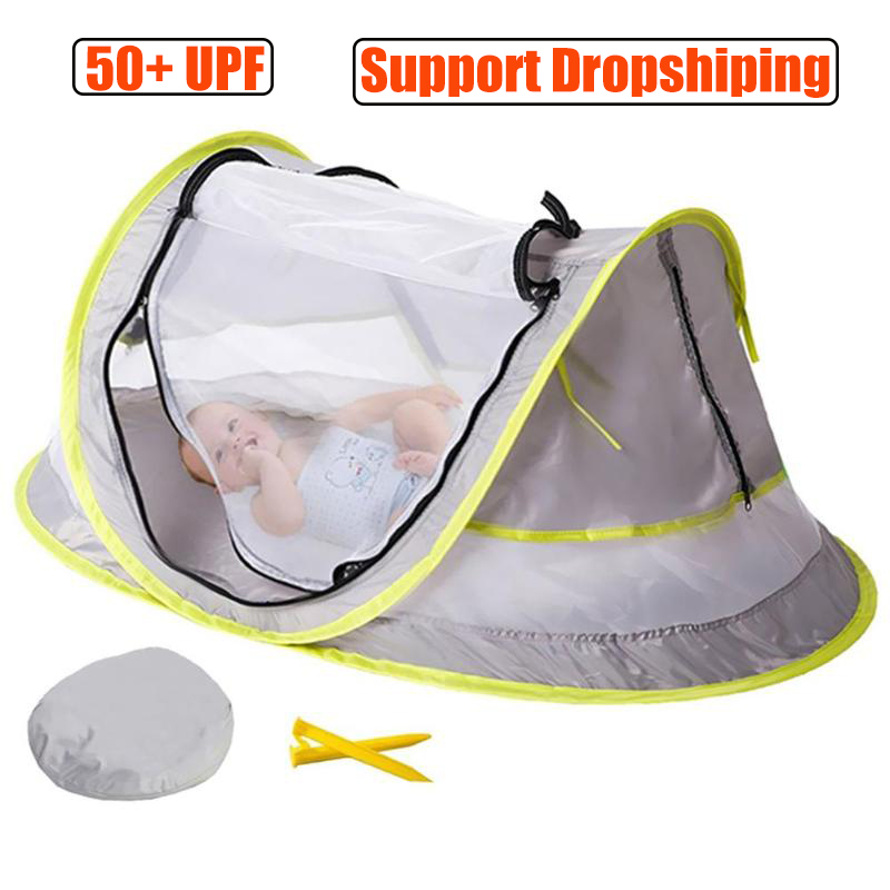 Baby Beach Tent UV Protection Sunshelter Foldable Mosquito Net Kids Outdoor Camping Tents Sunshade Beach Toy Tent Portable