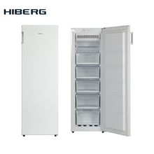 NO FROST, 168 см, 213 л, Морозильник HIBERG FR-25 NFW, класс А+, мощность замораживания 15 кг. в сутки, Суперзаморозка, Звукововая сигнализация открытой двери, Перенавешиваемые двери.