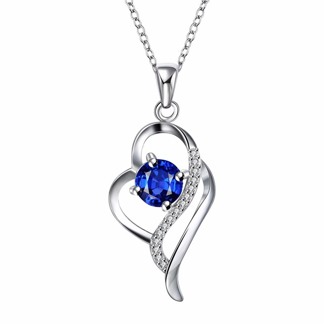 925 Sterling Silver Crystal Necklaces Pendants Sale Pure Silver Cross Jewelry For Women Silver Blue Red Hollow Zircon Necklace 2