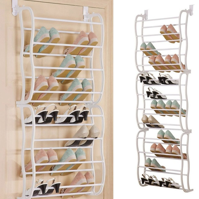 Superieur 12 Layers Fit 36 Pairs Portable Shoe Rack Multifunctional Hanging Over The Door  Shoe Organizer