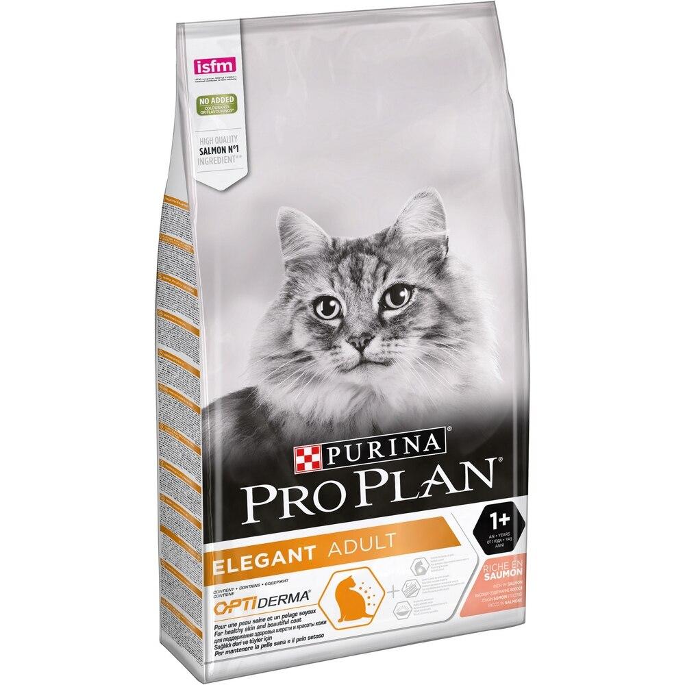 Pro Plan Elegant Adult корм для кошек для поддержания красоты шерсти и здоровья кожи, 10 кг