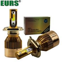 1 Set 2pcs C6 H7 LED Bulb H4 LED Lamp Double Color LED Car Headlight White and Yellow Beam Headlamp Hi/Lo H1 H11 H3 H9 HB1 HB5