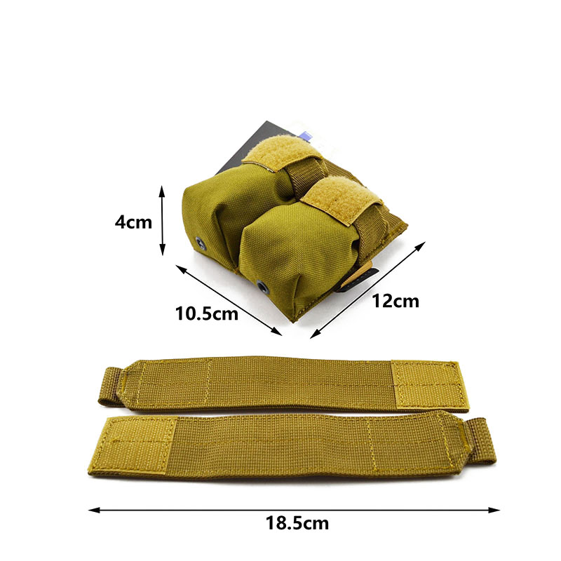 MOLLE 9mm Pistol Double Magazine Pouch CORDURA Modular Combat Hunting Camping Climb Tactical Hike TW-M006