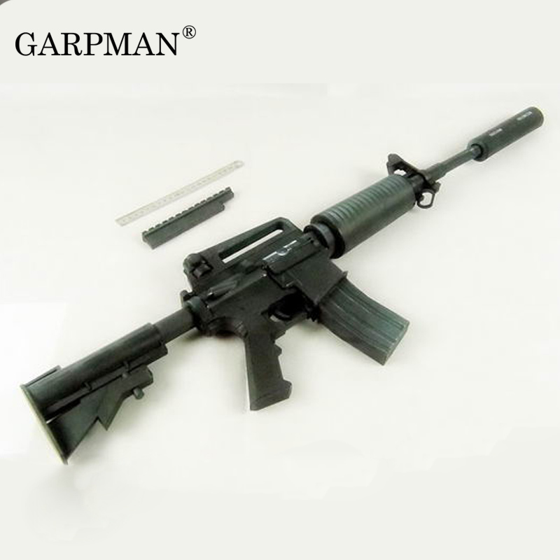 Toys & Hobbies Card Model Building Sets Genteel 1:1 M4a1 Assault Rifle 3d Paper Model Gun Handmade Cosplay Prop Toy Vivid And Great In Style