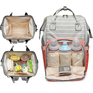 Image 2 - Lequeen Diaper Bag Nursing Care Baby Bag Stripe Maternity Bag Travel Nappy Bag Organizer Waterproof Maternity Patchwork Bag