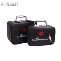 2017 New High End PU Ladies Cosmetics Cosmetic Bag Travel Portable Cosmetics Storage Box Beauty Makeup