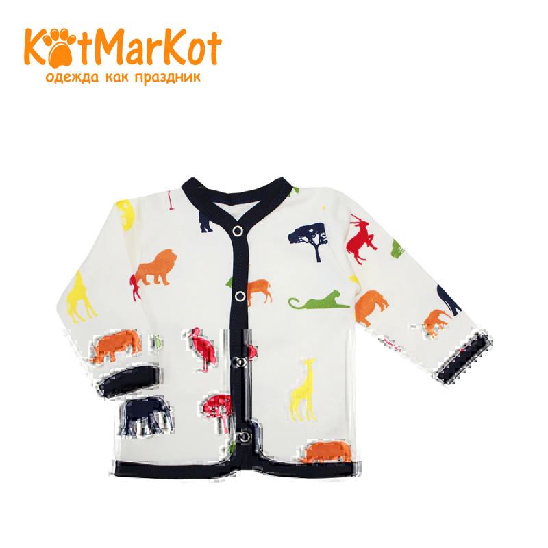 Фото - Blouse Kotmarkot 7277  children clothing for baby boys kid clothes contrast lace keyhole back blouse