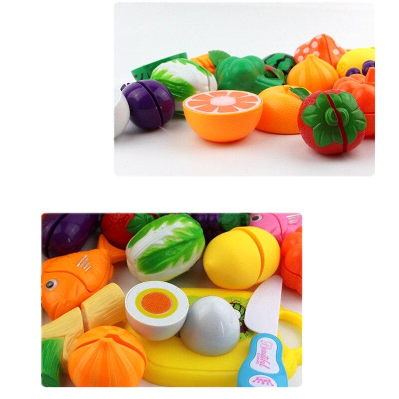 Corte De Cocina Simula Juego Para Ninos De Cocina Frutas y Verduras 37 Piezas