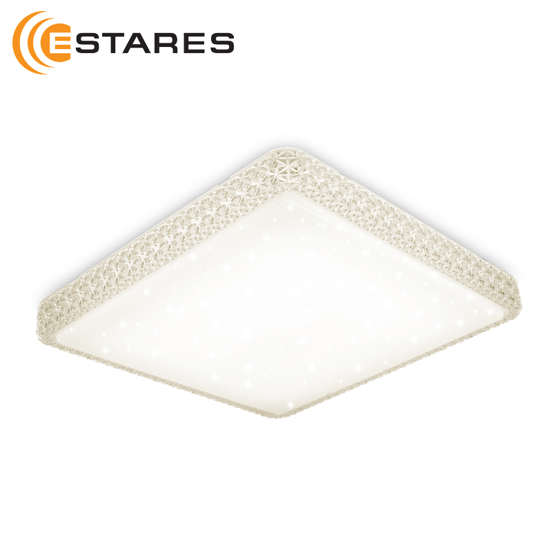 Smart LED Ceiling Light Astrella PLUTON SMART 60 W S-550-SHINY-220V-IP44 550x550x100mm Estares цена