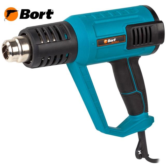 Фен технический Bort BHG-2000L-K (жк дисплей, 2 режима работы, 600 °С, 2000 Вт, кейс)