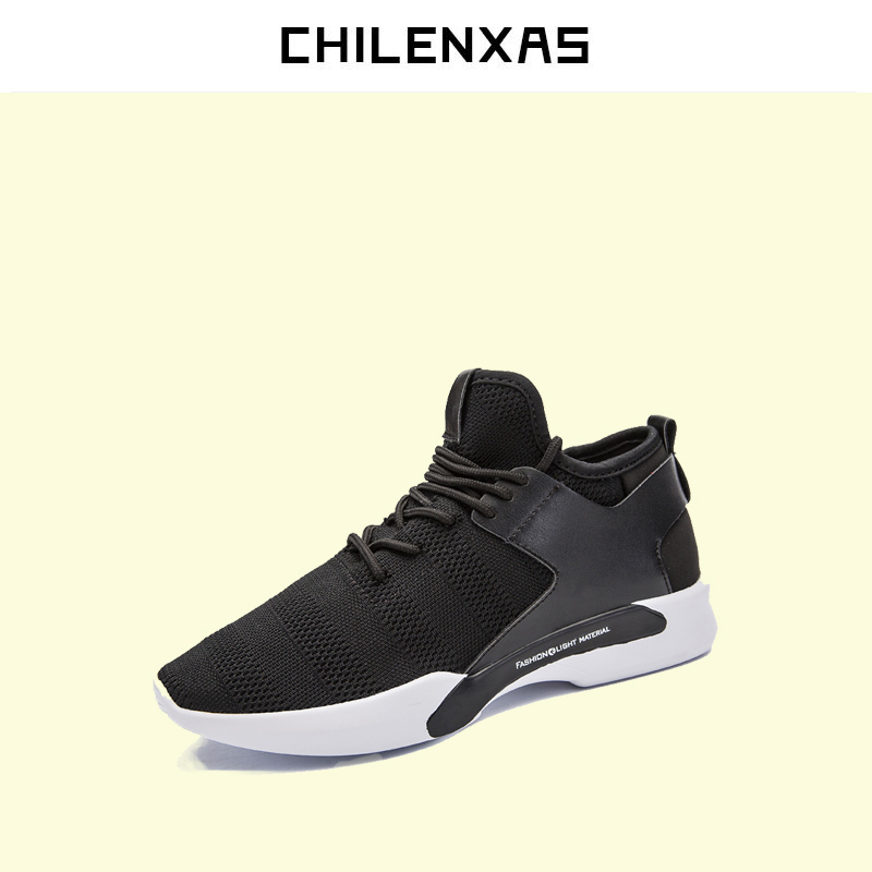 CHILENXAS 2017 Spring Autumn New Fashion Men Shoes Breathable Lace-up Casual Comfortable Sweat-Absorbant Light Solid micro micro 2017 men casual shoes comfortable spring fashion breathable white shoes swallow pattern microfiber shoe yj a081