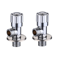2 PCS Bathroom Brass Angle Stop Valve 1 2 Stop Water Inlet Control Valve For Toilet