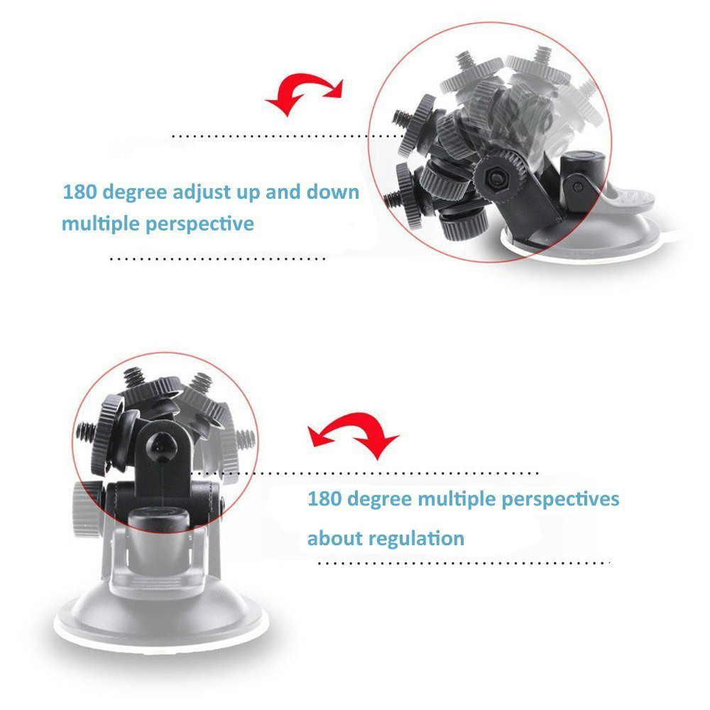 Suction cup for gopro accessories action camera action cam accessories for car mount glass monopod holder holding                (3)