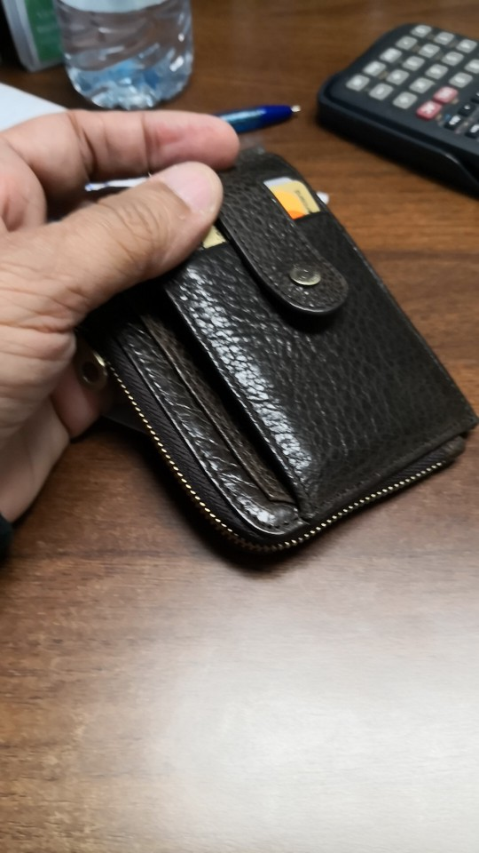 CONTACT'S genuine leather credit card holder Rfid vintage male coin pocket purse mini wallet porte carte business card holders photo review