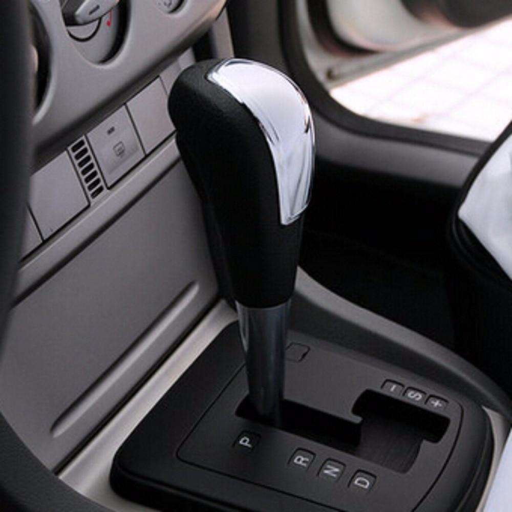Головка рычага автоматической коробки передач RIMIDI, декоративная наклейка, ручка переключения передач ABS, хромированная наклейка для Ford Focus 2...