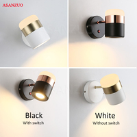 LED rotating wall lamps Modern simple metal Acrylic wall lamp creative Living room study bedroom aisle Wall Lights with switch