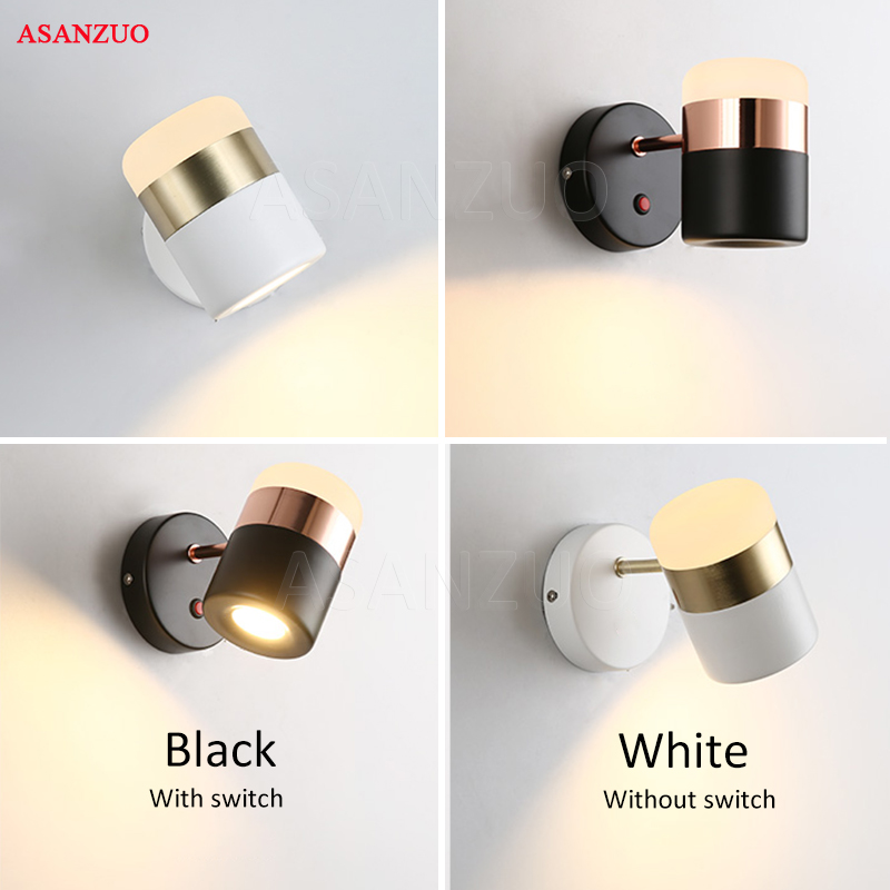 LED rotating wall lamps Modern simple metal Acrylic wall lamp creative Living room study bedroom aisle Wall Lights with switch modern simple led wall lamp bathroom mirror lamps reading light living room bedroom aisle wall lights free shipping