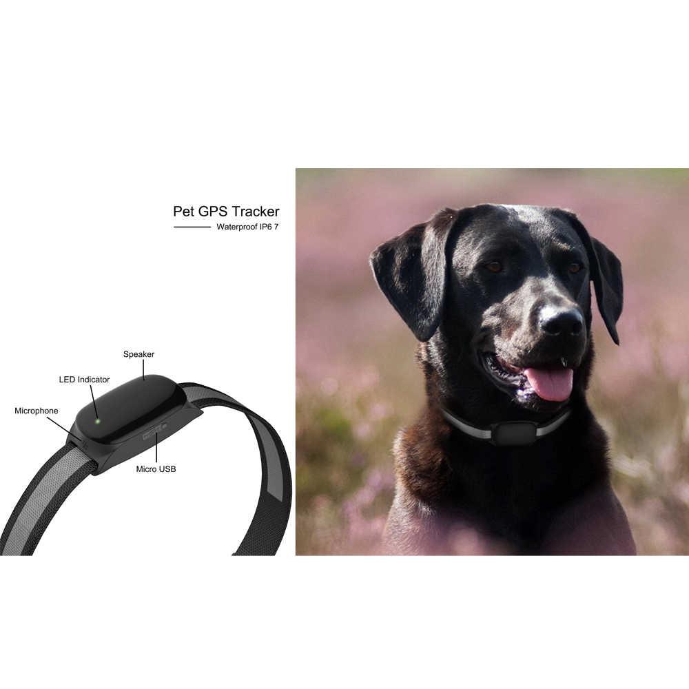 Водонепроницаемый gps-трекер для собак, ошейник, монитор, анти-потеря, для питомцев, кошек, gps-трекер, длинный срок службы батареи, бесплатное приложение для android/Iphone