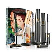 HUAMIANLI  4 Piece Set Foundation Liquid Concealer Eyeliner Makeup T4-4