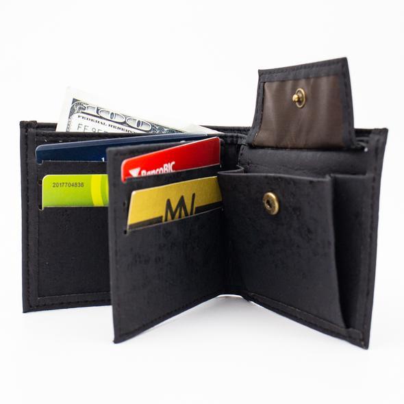 все цены на Cork wallet for men black color cork handmade Original men's wallet cork supplies BAG-351-B онлайн