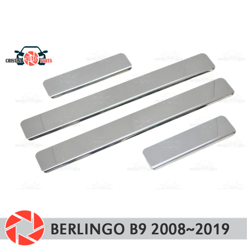 Door sills for Citroen Berlingo B9 2008-2019 step plate inner trim accessories protection scuff car styling decoration clear коврики в салон citroen berlingo b9 2008