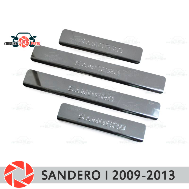 Door sills for Renault Sandero 2009-2013 step plate inner trim accessories protection scuff car styling decoration