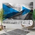Else серый синий черный треугольные стрелки Nordec абстрактный 3D принт декоративный хиппи богемный настенный гобелен с пейзажем настенное иску...