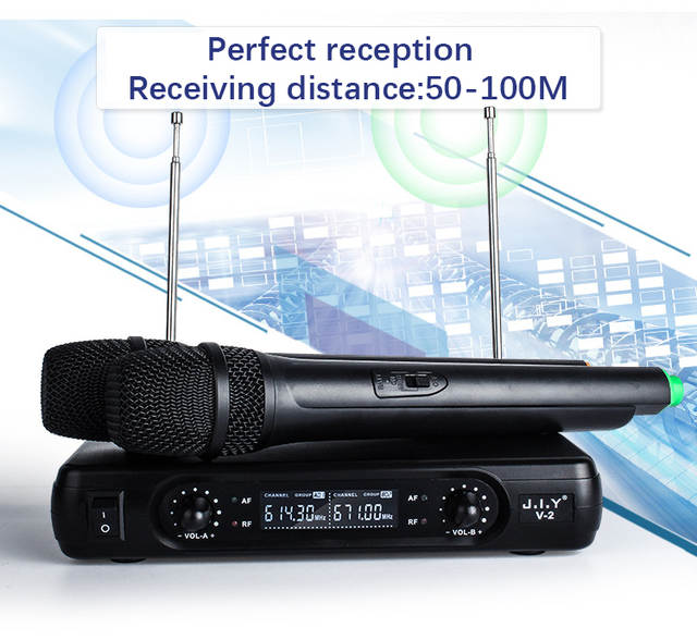 884009dd4 Online Shop JIY Professional LCD karaoke Wireless Microphone V2 mixer audio  radio kits handheld LCD mikrofon for karaoke System computer Mic |  Aliexpress ...
