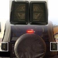2 Pcs Smoke Lens LED Brake Tail Lights Bulb Assembly Conversion Rear Turn Singal Reverse Lights