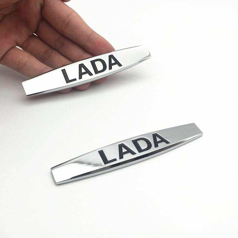 FDIK 2 шт./компл. 3D металлическая наклейка для LADA, логотип для LADA Granta, Kalina, Priora, боковая эмблема хвостовая часть, значок, украшение для автомобиля...