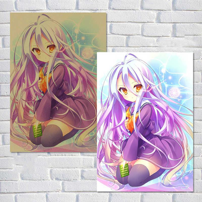 Cosy Moment аниме мультфильм нет игры нет жизни винтажные наклейки крафт-бумага картины с комиксами бар Детская комната Декор QT546