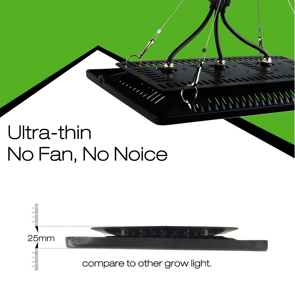 Ultra-mince LED grandir lumière spectre complet 300 W étanche IP67 LED COB lampe de croissance pour plantes d'intérieur extérieur légumes floraison - 6