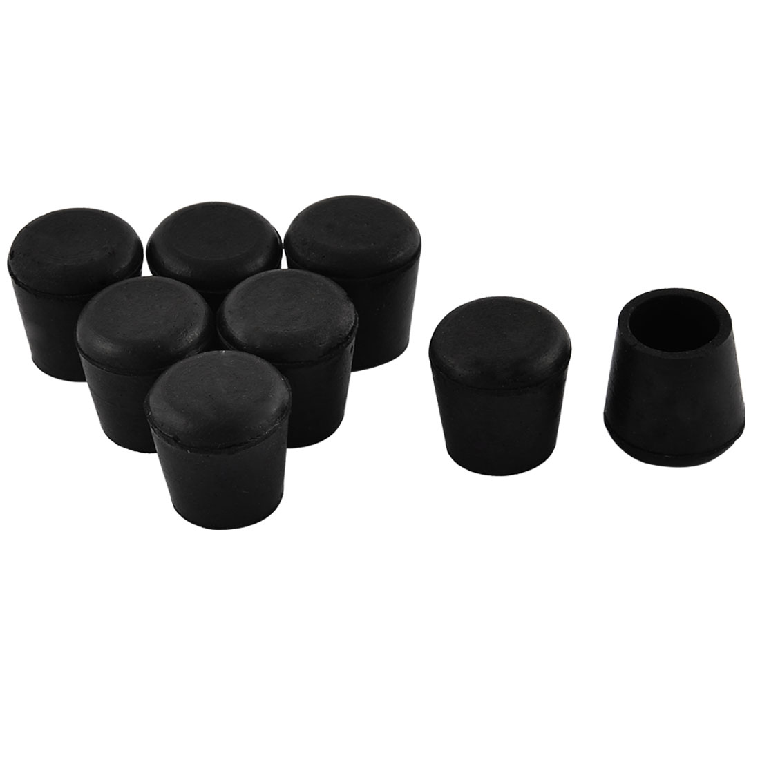 Tools Furniture Hemispherical 14mmx7mm Adhesive Rubber Pads Protector 6 In 1