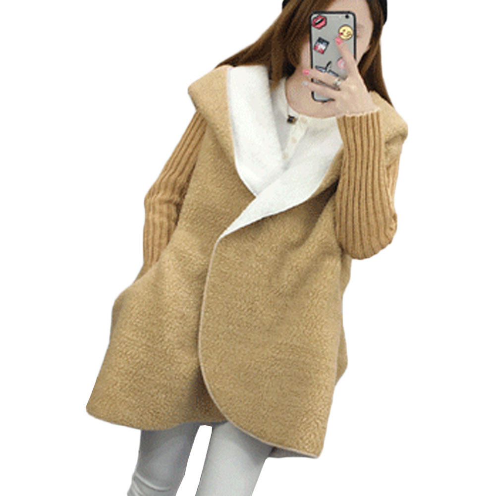 New Autumn Winter Warm Thickens Women Coats Fur Long Loose Casual Hooded Imitation Lamb Jacket Women