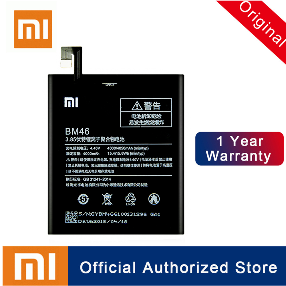 Xiao mi 100% Original BM46 Batterie Für Xiao mi Red mi Hinweis 3/Hinweis 3 Pro Batterie Reale Kapazität 4760mAh Wiederaufladbare Batteria