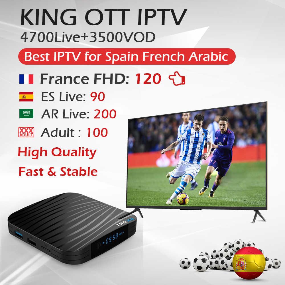 Лучший король OTT IP ТВ подписки для арабский Франции, Испании в европейском стиле с T95X2 IP ТВ коробка для Linux Andriod VLC Смарт ТВ m3u 4700 в прямом эфире