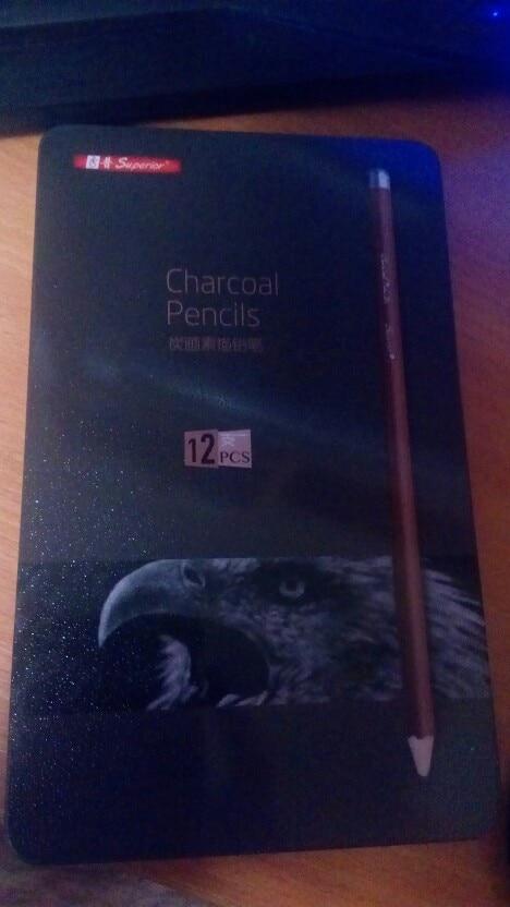 Charcoal Pencil Set 12Pcs photo review