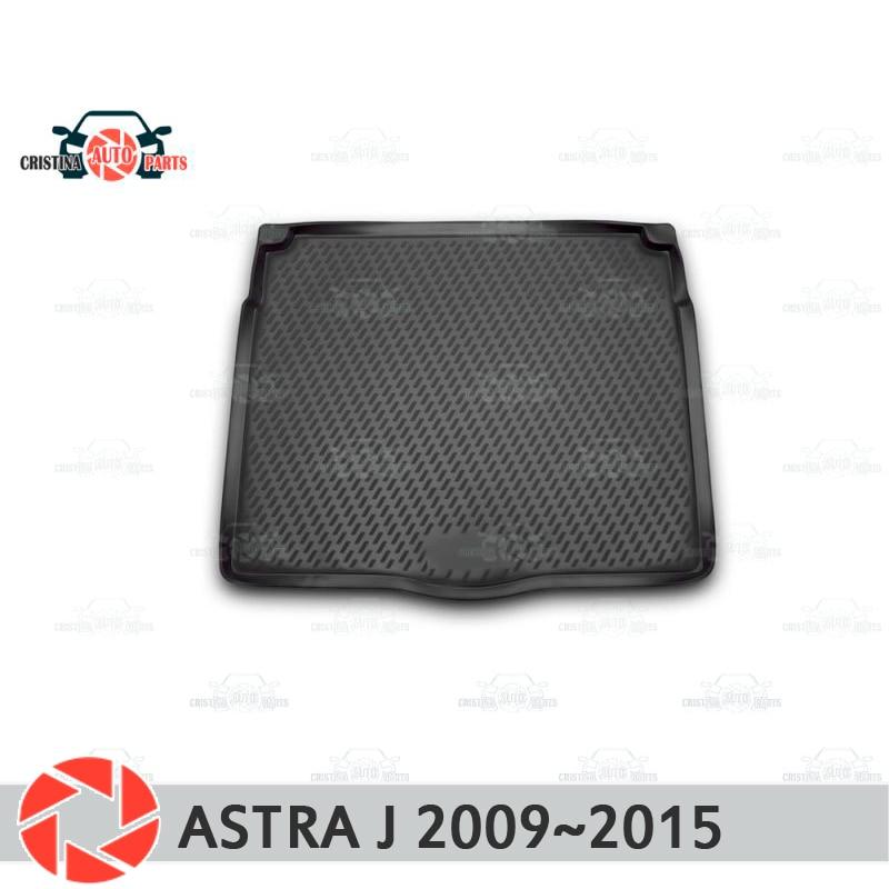 Mat tronco para Opel Astra J 2009 ~ 2015 trunk piso tapetes antiderrapante poliuretano proteção sujeira interior do carro tronco styling