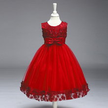 Kid New Casual Fashion Summer Round Neck Cute Sleevless Party Dress