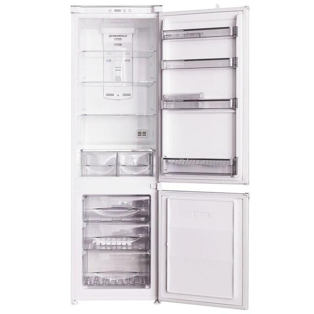Холодильник встраиваемый двухкамерный с системой NoFrost MAUNFELD MBF.177NFW