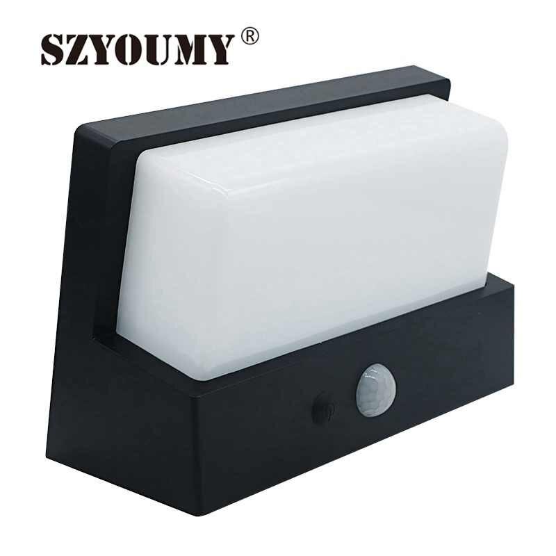 SZYOUMY 50 LED Solar Multifunction Intelligent Solar PIR LED Wall Lamp Waterproof Outdoor Garden Light Built in 5000mah Battery