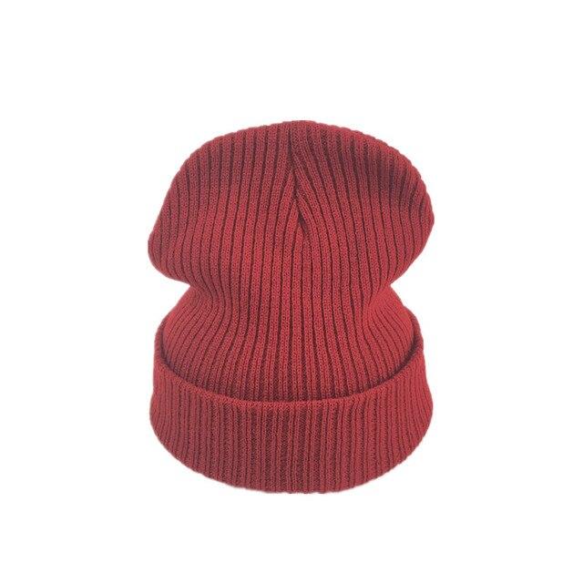 25ada4a50e5 PEIWU 2017 New Fashion Women Winter Hat Cotton Knitted Beanies For Boys  Girls Warm Hat High