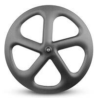 high quality carbon trispoke wheel 700c racing bicycle rim oem road bike aero spoke wheelset 5 spokes