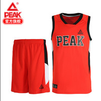 PEAK basketball suit, male summer new competition, training breathable sports custom print number