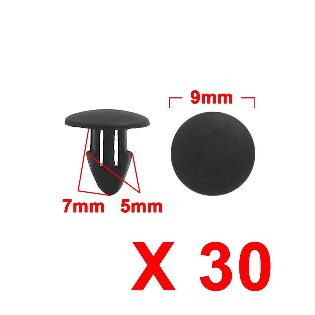20 Pcs Black Plastic Splash Guard Moulding Bumper Clips 9mm x 17mm x 19mm
