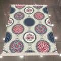 Sonst Grau Ethnische Blumen Rot Blau Kreis 3d Muster Druck Mikrofaser Anti Slip Zurück Waschbar Dekorative Kelim Bereich Teppich Teppich