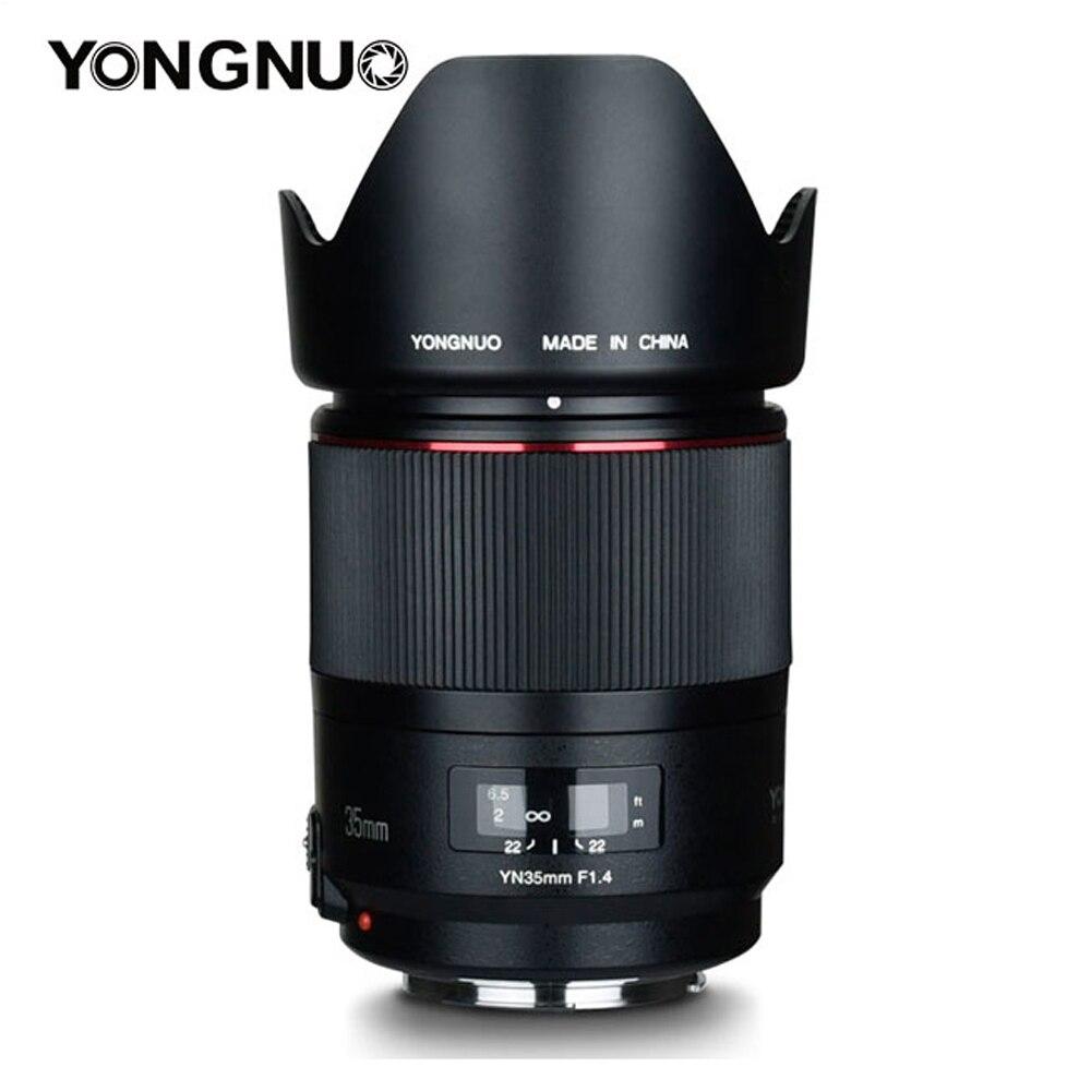 YONGNUO YN35mm F1.4 Large-Angle Premier Plein Cadre AF MF Lentille pour Canon 6D 5D MARK IV 70D 200D 6D MARK II T6 200D 70D 7D Caméra
