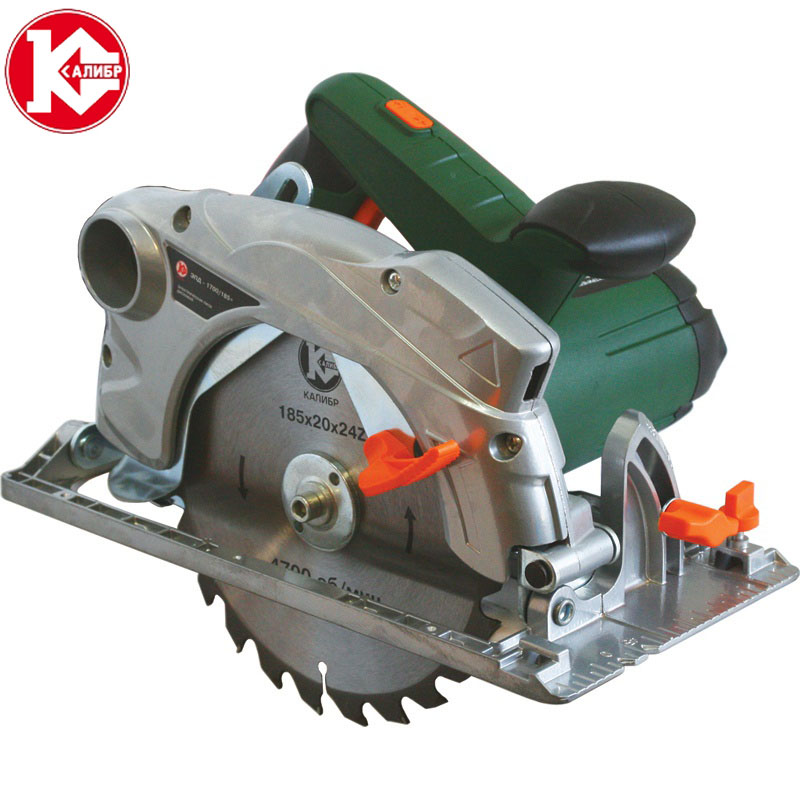 Kalibr EPD-1700/185+ Electric Circular Saw For Wood With A Blade  Tool Circle Saw tct saw blade 60teeth with core hole 25mm for wood working from professional company at good price fast delivery