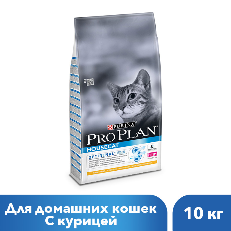 Dry Pro Plan food for cats living in the house, with chicken, 10 kg rt 603 5179